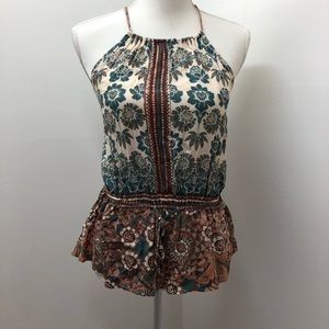 Kendall & Kylie Boho Halter Top Size M